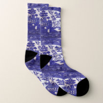 Blue Willow Socks  Carve The  Turkey in Style