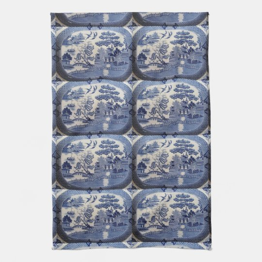 Blue Willow Tea Towel   Let Grandma In The Kitchen