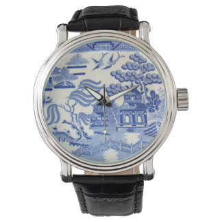 Blue Willow Time, now they've done it Grandma! Wristwatches