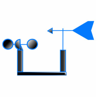 Blue Wind Speed and Weather Vane Cutout
