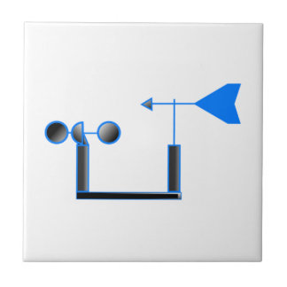 Blue Wind Speed and Weather Vane Tile