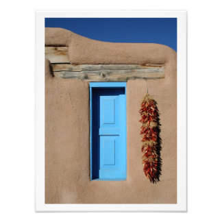 Blue Window of Taos Photo Print