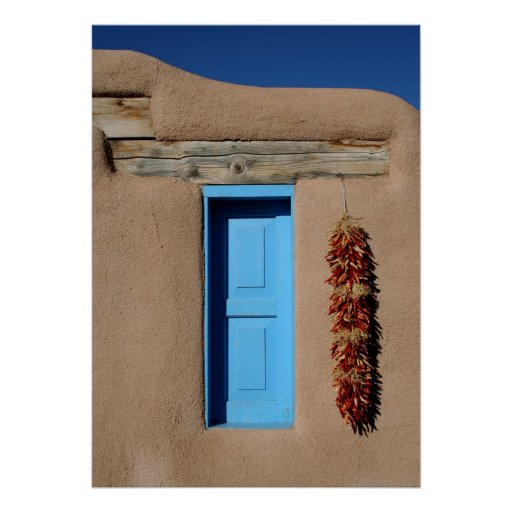 Blue Window of Taos Poster