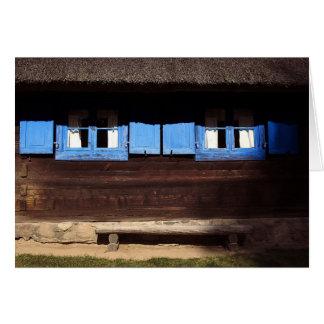 Blue Window Shutters - Card