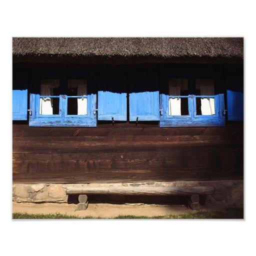 Blue Window Shutters - Photo