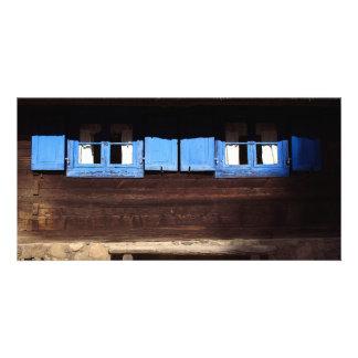 Blue Window Shutters - Photo Card