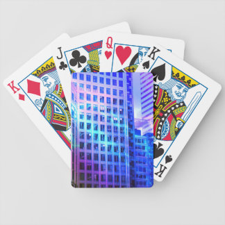 Blue Windows Bicycle Playing Cards