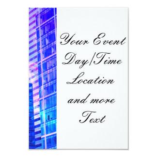 blue windows 3.5x5 paper invitation card