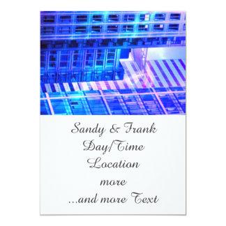 blue windows 5x7 paper invitation card