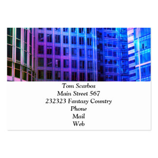 blue windows large business cards (Pack of 100)