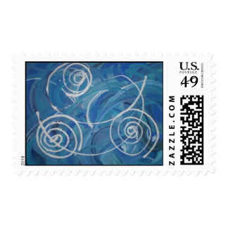 Blue WInds Blow Postage Stamp