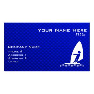 Blue Windsurfing Business Card
