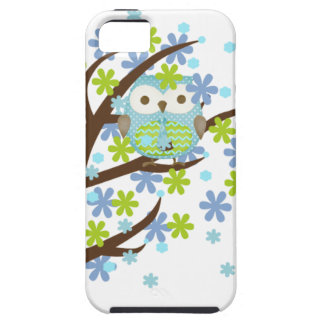 Blue Windy Tree Owl iPhone 5 Cover