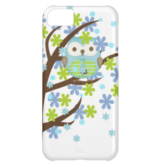 Blue Windy Tree Owl iPhone 5C Cases