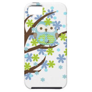 Blue Windy Tree Owl iPhone SE/5/5s Case