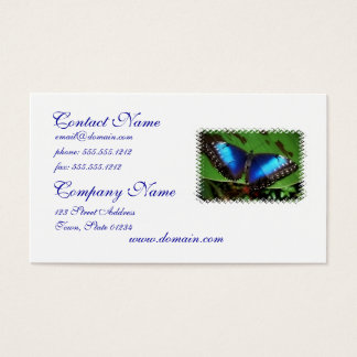 Blue Wing Butterfly Business Cards