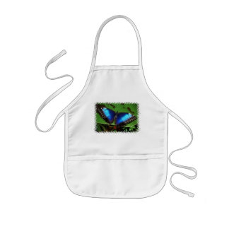 Blue Wing Butterfly Small Apron
