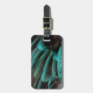 Blue Wing Covert feathers Bag Tag