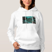 Blue Wing Covert feathers Hoodie