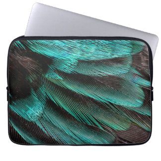 Blue Wing Covert feathers Laptop Sleeve