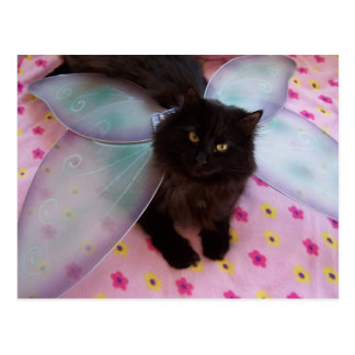 blue wing fairy postcard