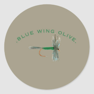 Blue Wing Olive Fly Classic Round Sticker