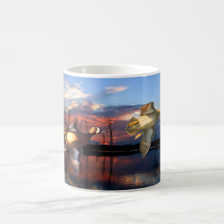 Blue-Wing Teal Over Lasalle Sunset Classic White Coffee Mug