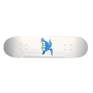 Blue Winged Bird Dragon Skateboard