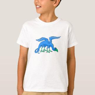 Blue Winged Bird Dragon T-Shirt