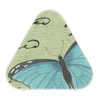 Blue-Winged Butterfly on Teal Postcard Speaker
