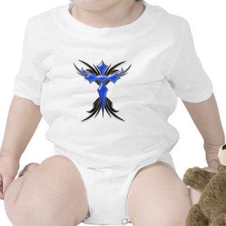 Blue Winged Cross Bodysuit