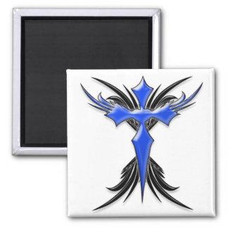 Blue Winged Cross Fridge Magnets