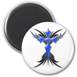 Blue Winged Cross Magnets