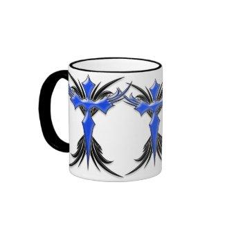 Blue Winged Cross mug