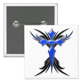 Blue Winged Cross Pin