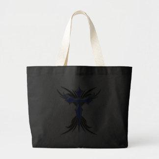 Blue Winged Cross Tote Bag