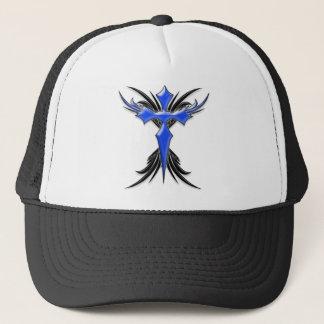 Blue Winged Cross Trucker Hat