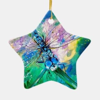 Blue-Winged Darter Ceramic Ornament