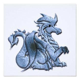Blue Winged Dragon on an Invitation