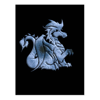 Blue Winged Dragon Postcard