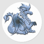 Blue Winged Dragon Sticker