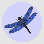 Blue Winged Dragonfly Sticker