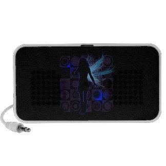 Blue Winged Fairy Doodle Speaker