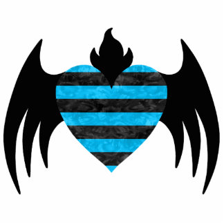 Blue winged heart magnet