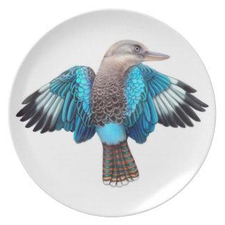 Blue Winged Kookaburra Plate