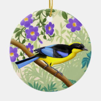 Blue Winged Mountain Tanager Wild Bird Ornament