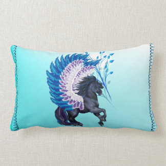 Blue Winged Pegasus Lumbar Pillow