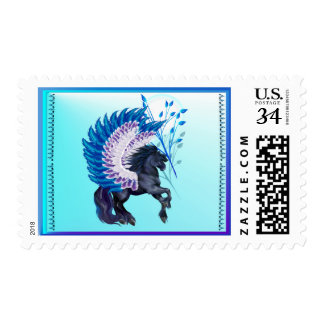 Blue Winged Pegasus Postage
