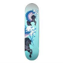 Blue Winged Pegasus Skateboard