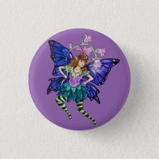 Blue Winged Pixie Button